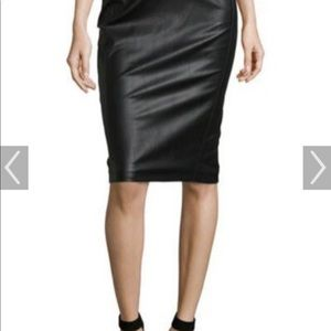 Romeo & Juliet Couture faux leather pencil skirt